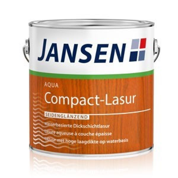 JANSEN Aqua Compact-Lasur nussbaum - 750 ml