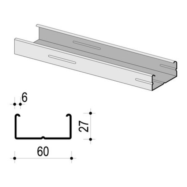 KNAUF Trockenbauprofil CD60 - 3m