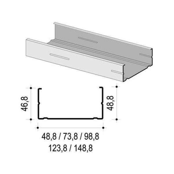 KNAUF Trockenbauprofil CW50 - 2,75m