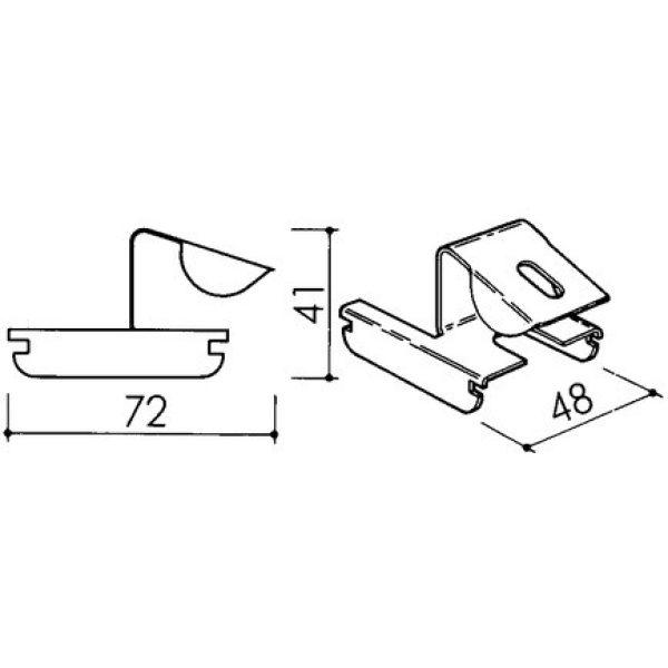 KNAUF Stützenklipp für CD-Profil