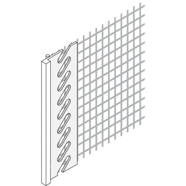 SOLID Anschlußprofil L mit Gewebe (3mm x 2m)