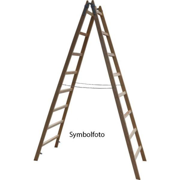 X-TOOLS Holzleiter 5 Sprossen, H=1,66m.
