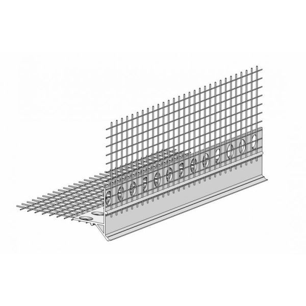 Tropfkantenprofil mit Gewebe PVC (100mm x 100mm)