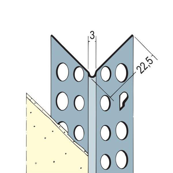 PROTEKTOR Alu-Eckschutzprofil 250cm, 24mm x 24mm