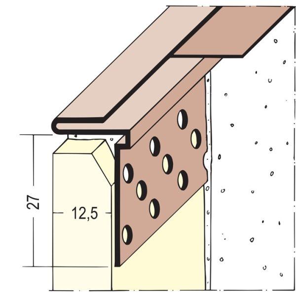 PROTEKTOR Anschlussprofil PVC 3766