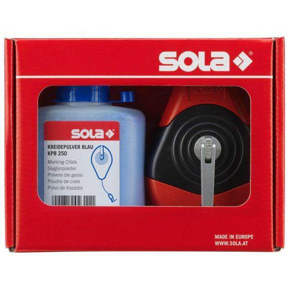 SOLA Schlagschnur mit Kreide SET-Blau 30m