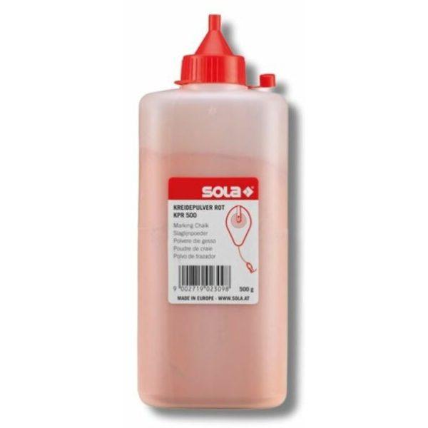 SOLA Schlagschnurkreide rot, Flasche/500g