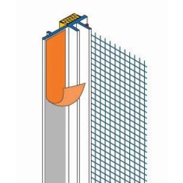 Fensteranschlußprofil ohne Gewebe (6mm x 2,4m)