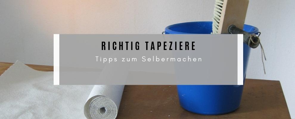 Richtig tapezieren - Tipps zum Selbermachen